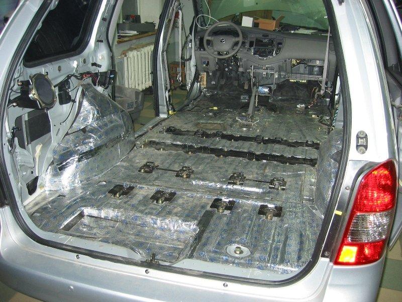 Вибро-шумоизоляция автомобилей своими руками 32
